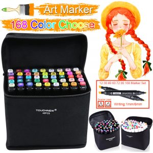 168 Colors Pen Marker Set Dual Head Sketch Markers Brush Pen for Standard Landscape Draw Manga Animation Design Art Supplies 1