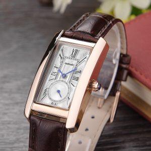 2018 Muhsein distinguished fashion casual quartz watch waterproof rectangular fashion watch ladies watch leather strap 1