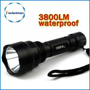 3800lm C8 LED Flashlight Hunting Torch Q5 Led Torch light lantern nitecore Waterproof For 1x18650 1