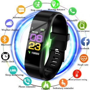 BANGWEI Smart Band Watch Men Heart Rate Blood Pressure Pedometer Sports Wristband Smart Fitness Watch Men Women For IOS Android 1
