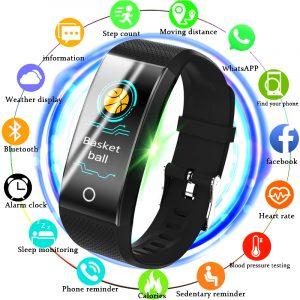 BANGWEI Smart Wristwatch Heart Rate Blood pressure detector Fitness Tracker SmartWatch Waterproof Smart Watch Men Sport watch 1