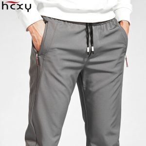 HCXY 2018 New Brand spring Casual Pants Men Elastic Breathable Sweat Pants Drawstring Outwear Clothing Male Pants Trousers 1