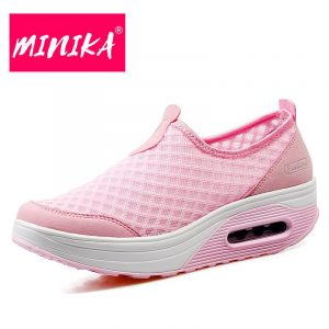 MINIKA Solid Colors Fashion Sneakers Women Shallow Slip on Flat Shoes Women Durable Outsole Breathable Women Loafers Shoes 1