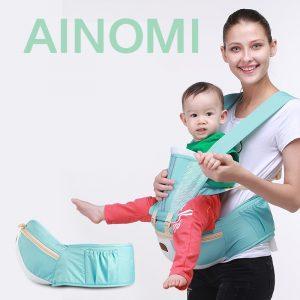 Ainomi  Baby Hipseat Kangaroo Rucksack Mochila Portabebe Ergonomic Baby Carrier 360 Hip Seat Baby Sling breathable 1