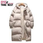 TANGNEST 2018 Long Style Coat Casual Thick Winter Jacket Men 2 Colors Warm Good Quality Men Jacket Oversize 5XL MWM1694 3