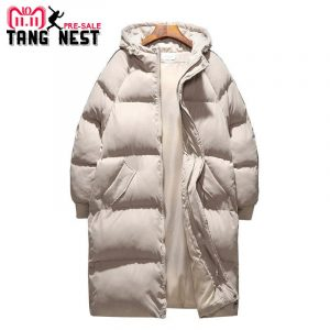 TANGNEST 2018 Long Style Coat Casual Thick Winter Jacket Men 2 Colors Warm Good Quality Men Jacket Oversize 5XL MWM1694 1