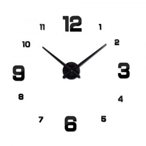 2018  hot sale the circular multi-piece set living room clocks mute big wall clock needle metal watch diy free shipping 1