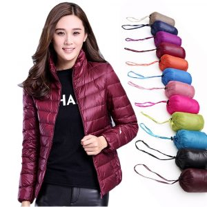 Women Down Jacket 2019 New Brand 90% White Duck Down Ultra-light Hooded Jacket for Woman Long sleeve Coats Winter Windproof Warm 1