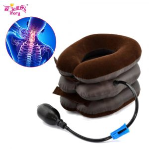 Ifory Health Care Inflatable Cervical Collar Traction Device Neck Stretcher Protector Vertebra Traction Massager Medical Care 1