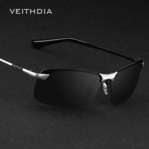 VEITHDIA Brand Designer Polarized Men's Sunglasses Rimless Sun Glasses Goggle Eyewear For Men oculos de sol masculino 3043 1