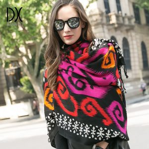 Winter Cashmere Scarf Luxury Brand Wool Bandana Plaid Blanket Scarf Warm Scarf Fashion Scarves and Shawls Muslim Hijab Foulard 1