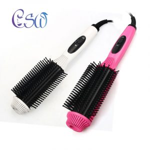 CSW Two-In-One Multifunctional Electric Hair Straightener Comb Hair Curler Anti-scald Flat Iron Straightening Brush Curling Tool 1