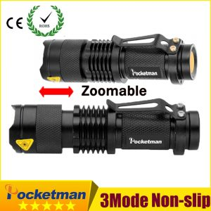 Pocketman 8000LM Hot high-quality Mini Black Waterproof LED Flashlight 3 Modes Zoomable LED Torch penlight Z95 1