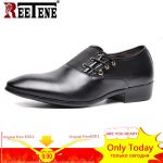 REETENE Big Size Men Formal Shoe Flats Oxford Shoes For Man Lace-Up Business Leather Shoes Men Flats Brand Men Dress Shoes 48 9