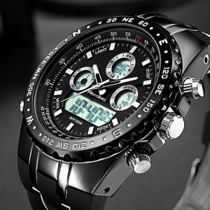 Readeel Top Brand Sport Quartz Wrist Watch Men Military Waterproof Watches LED Digital Watches Men Quartz Wristwatch Clock Male 1