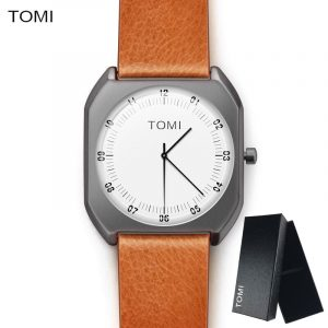 TOMI Brand New Fashion luxury Elegant woman Watches Simple Ultra Thin dial Casual Male Quartz Clock Man Watch Wristwatch Gift 1