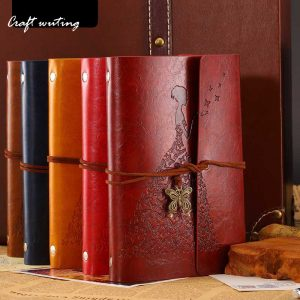 craft hot sale leather TNotebook Diary Notepad journals Vintage literature PU a6 Leather Book Stationery Gift Travelerplanners 1