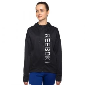 WOMEN'S REEBOK TRAINING WORKOUT FLEECE HOODIE 1