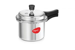 Pigeon By Stovekraft Favourite Induction Base Aluminium Pressure Cooker with Outer Lid, 3 Litres (Silver) 1