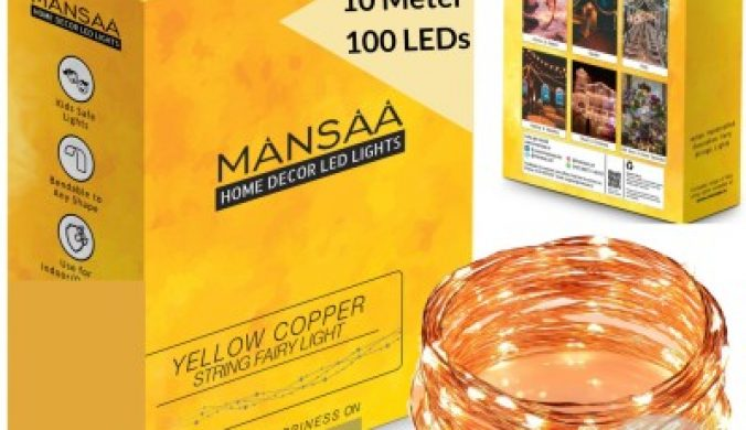 MANSAA 396 inch Yellow, Gold Rice Lights(Pack of 1) 5