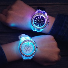 Luminous LED Children Watches Silicone Rubber Quartz Woman Man Wristwatch Glowing in the dark Bracelet Casual Clock for Kids 1