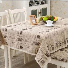 New design Europe style a small crown linen cotton table cloth Universal fabric Christmas rectangular tablecloth hot sale 1